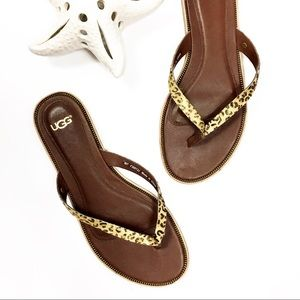 Ugg Shoes Brand New In Box Audra Braided Leather Sandals
